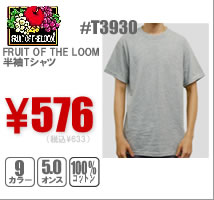 FRUIT OF THE LOOM半袖Tシャツ#T3930